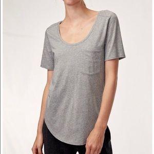 ✨2/$35✨Aritzia Babaton grey/brown Sami tee shirt